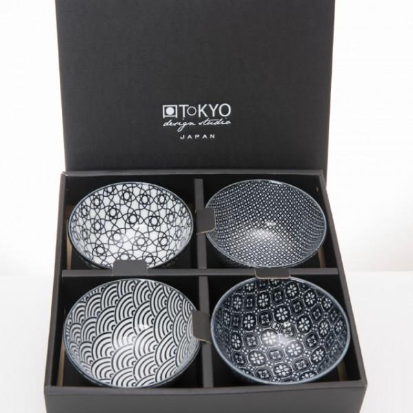 tokyo design studio nippon black rice bowl set 4pcs cadeauset. Black Bedroom Furniture Sets. Home Design Ideas