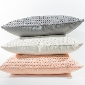 ezra knitted pillow