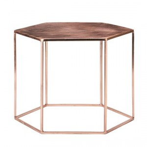 Bloomingville table copper plated