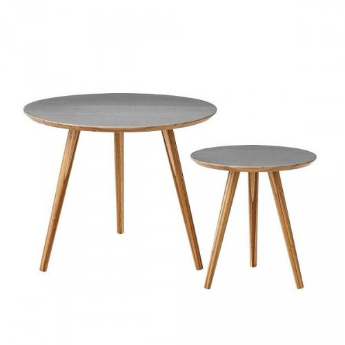 Bloomingville table grey bamboo set of 2