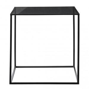 bloomingville tafel vierkant zwart met glas