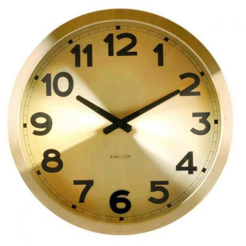 Karlsson klok gold station clock