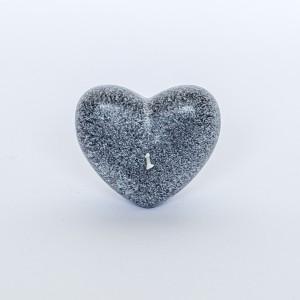 Fairtrade kaars hart grijs