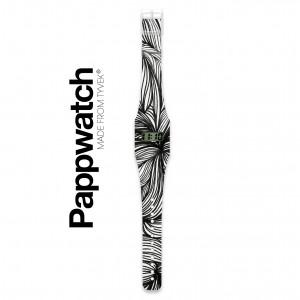Pappwatch Bloem zwartwit 1