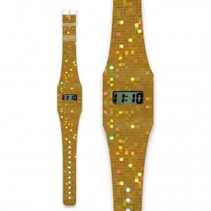 I like paper Pappwatch glittergold