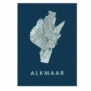 Alkmaar poster blauw
