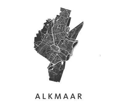 Alkmaar poster wit