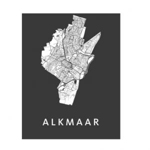 Alkmaar poster zwart