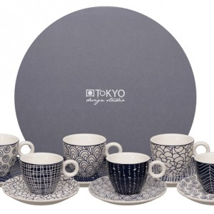 Toky Design Studio Blue de Nimes espresso set