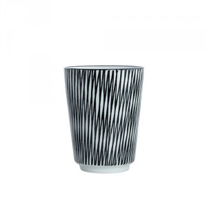 House Doctor pin stripe mug crossed
