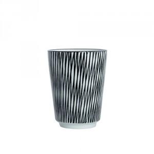 House Doctor pin stripe mug crossed