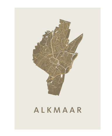 Alkmaar poster goud
